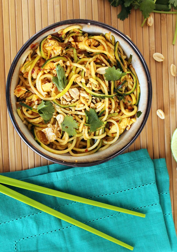 thai noodle recipe zucchini pad Recipes Vegetarian Thai Noodle Pad Zucchini   Pinterest