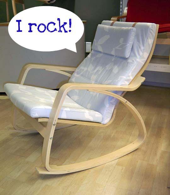 Ikea Unterschrank Ausziehbar ~ Finally Ikea Poäng Rocking Chair