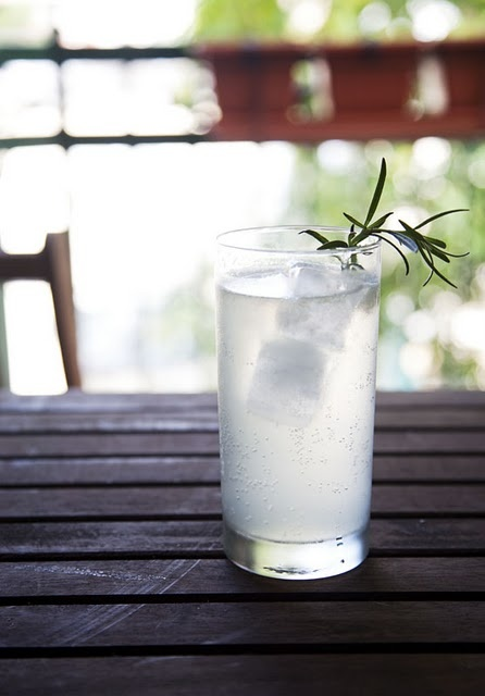 Rosemary Gin Fizz. I can see myself trying this concoction this summer ...