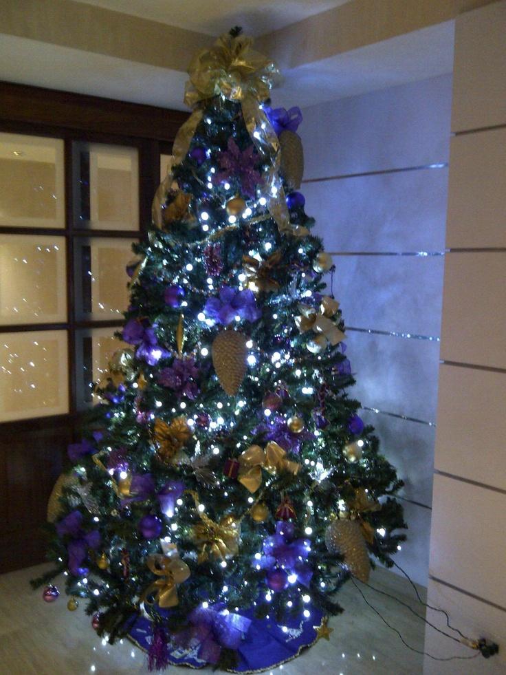Arbol de navidad morado holiday decoration pinterest - Arboles de naviad ...