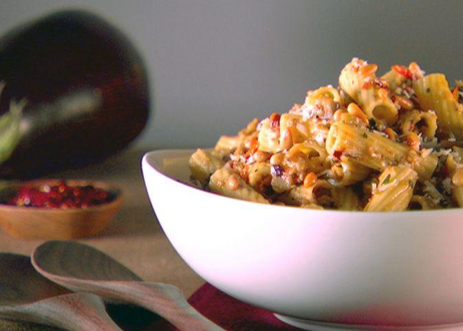 Rigatoni with Eggplant Puree Recipe : Giada De Laurentiis : Food ...