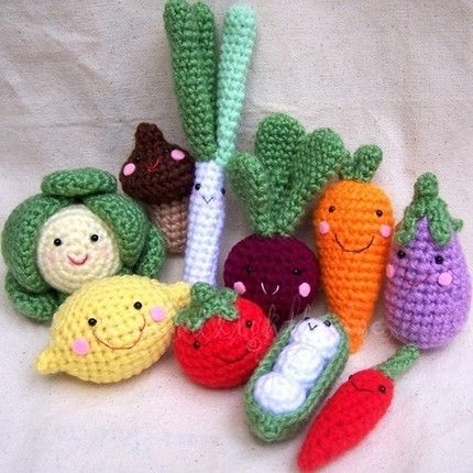 Crocheting Vegetables : Crochet veggies - i wish i knew how to crochet so I could make these!