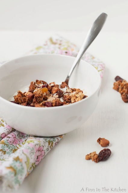 Date-Sweetened Granola with Peanut Butter, Coconut, and Dried Fruit |A ...
