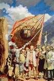 63 - 1535 - 18 de Enero. La Fundación. Francisco Pizarro funda Lima, la ciudad de los Reyes, en la plaza mayor, en los terrenos de los señoríos de Ichma y Collique, en esta época gobernaba el Curaca Taulichusco, quien tenía su residencia en el espacio que hoy ocupa el Palacio de Gobierno.