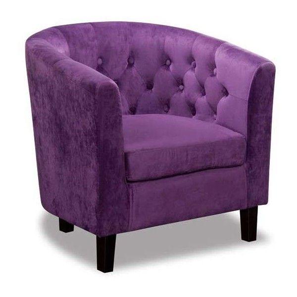 Mallory plum velvet tub chair found on polyvore purple