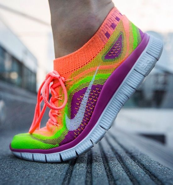 New neon nike running shoes