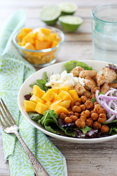 Chicken, Chickpea and Mango Salad with Cumin Lime Dressing | Recipe