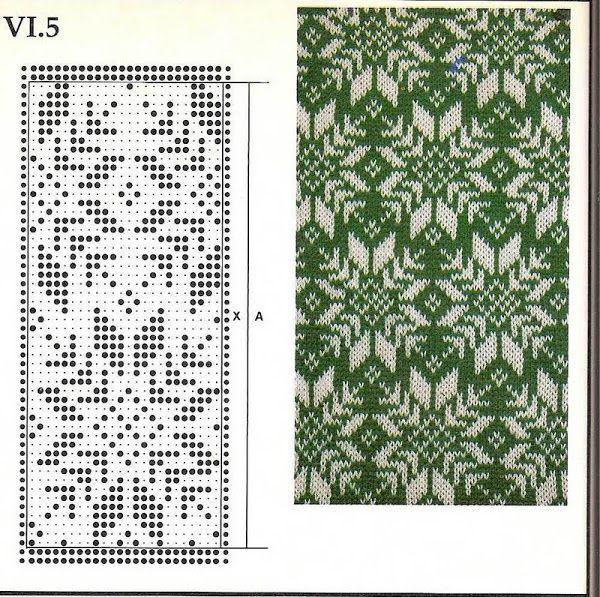 Схемы вязания жаккарда на спицах 644