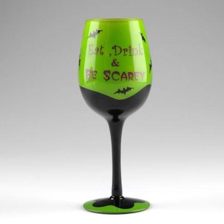 Eat Drink Be Scarey Glass Halloween Pinterest