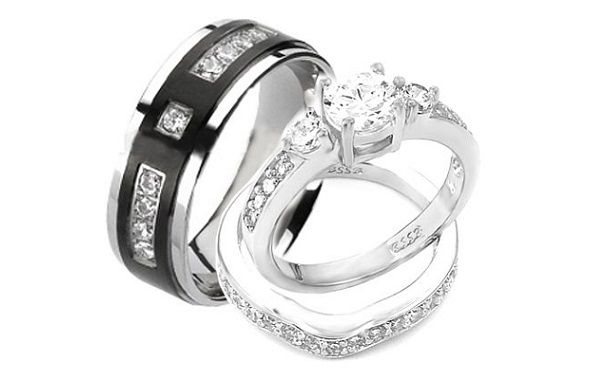 About His And Hers Wedding Ring Sets My GOD Ordained Wedding Pint