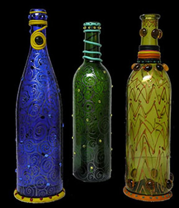 Bing wine bottle crafts with lights cool pinterest for Decorative vials