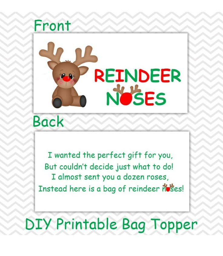 Reindeer noses Etsy printables | Christmas | Pinterest