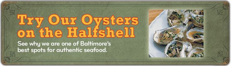 Mama's on the Half Shell | Baltimore Dining | Pinterest
