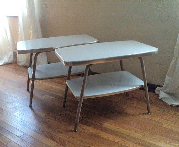 Vintage industrial end tables diy home pinterest