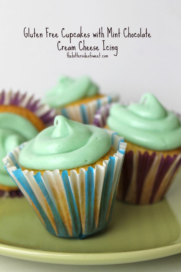 Gluten Free Cupcakes with Mint Chocolate Cream Cheese Icing | Recipe