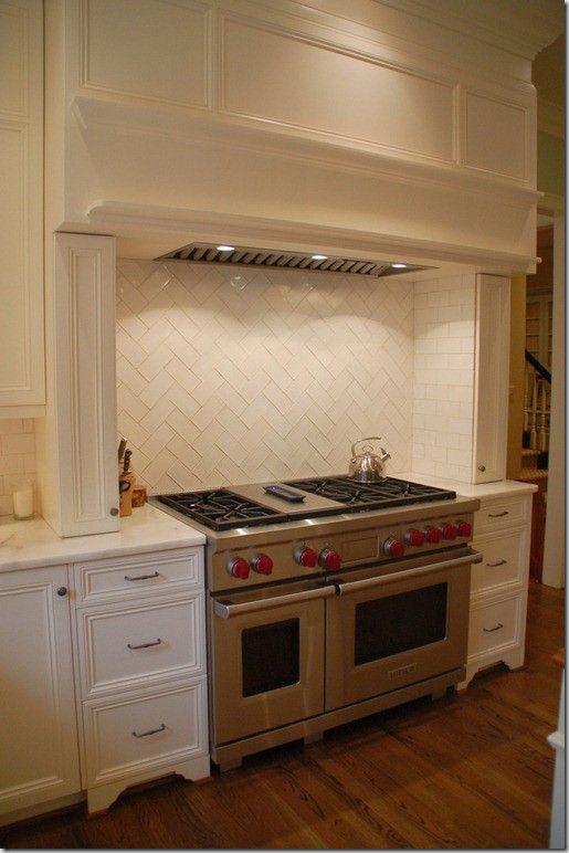 herringbone subway tile backsplash interior design pinterest