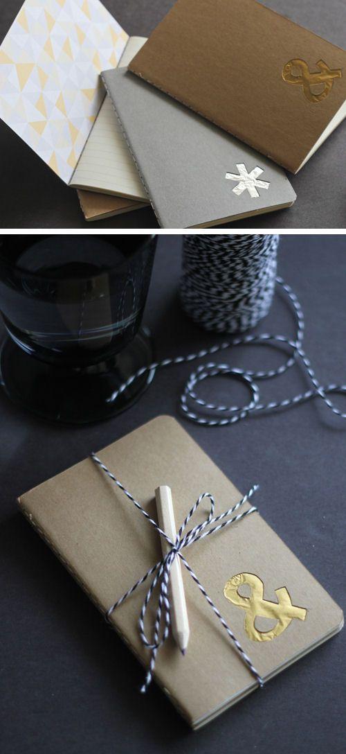 DIY Monogram Notebook