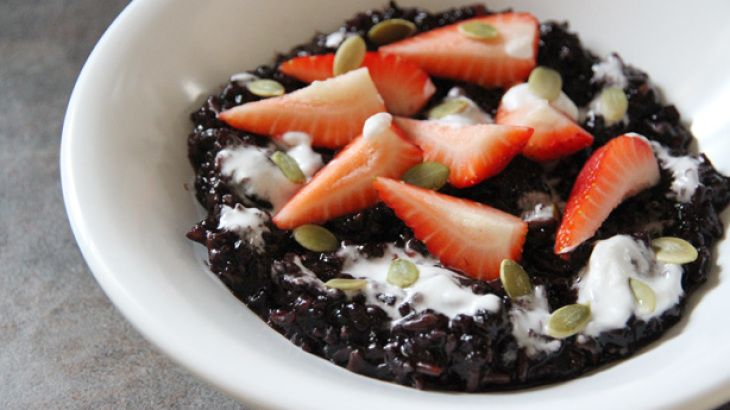 Breakfast Black Rice Pudding | Breakfast | Pinterest