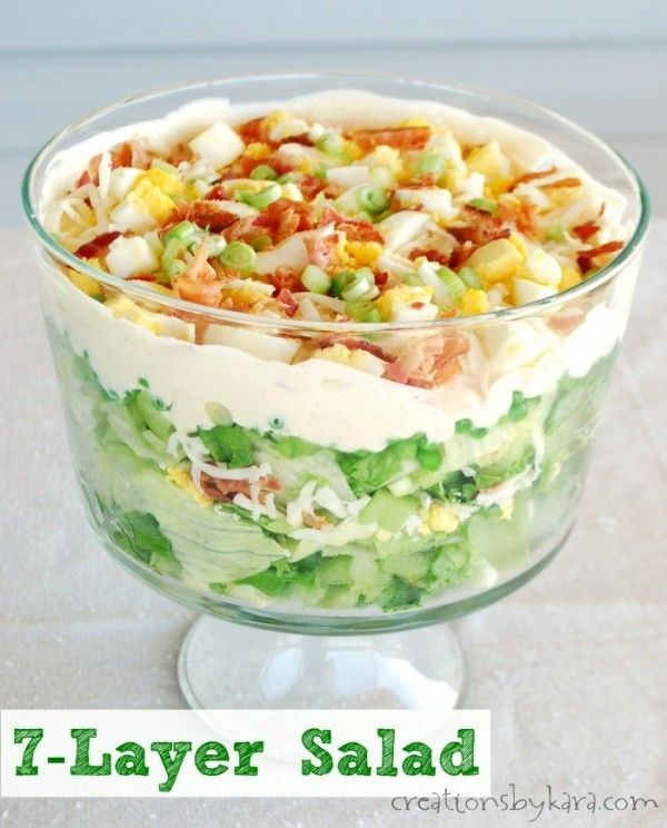 Classic 7-Layer Salad ~ best picnic salad ever!