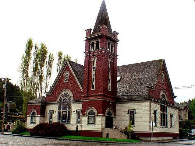 Ferndale Ca church - This church was converted into a home in the ...