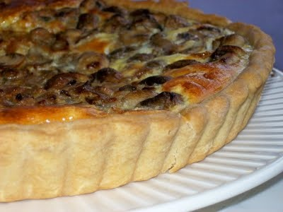 Mushroom Quiche with parsley, cheese and bit of cream | Quick and Easy ...