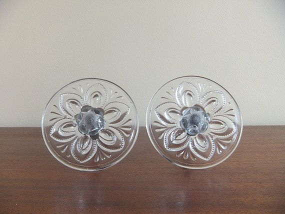 Antique Pressed Glass Curtain Tie Backs Pair Two 2 From The Victo