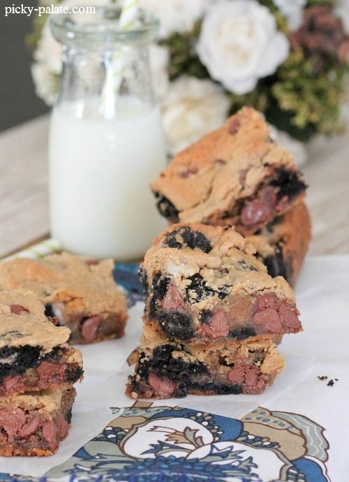 Oreo Chocolate Chip Peanut Butter Bars | yummy to my tummy(: | Pinter ...