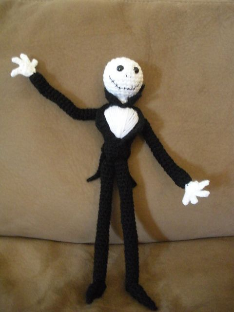 Crochet Jack Skellington : Jack Skellington Amigurumi pattern by Kimberlie Goodnough