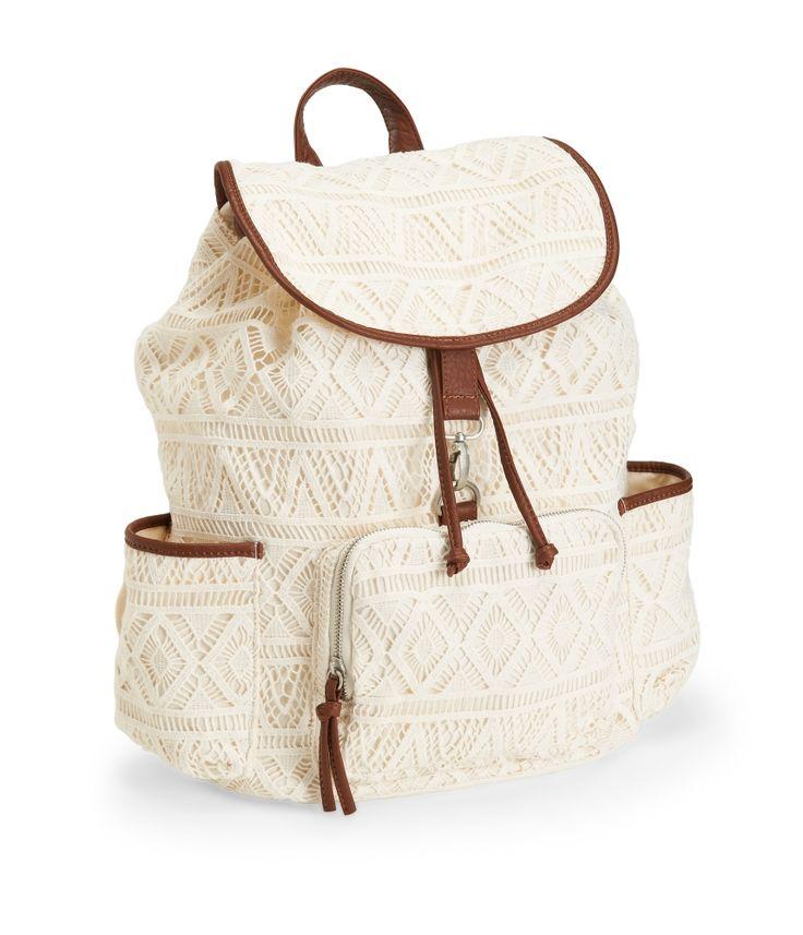 Crochet Backpack : Crochet Backpack - Aeropostale. Maybe backpack for next year?