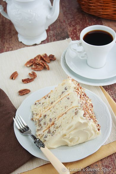 "Pecan Cake ~ What gives this cake that signature ""Butter Pecan ..."