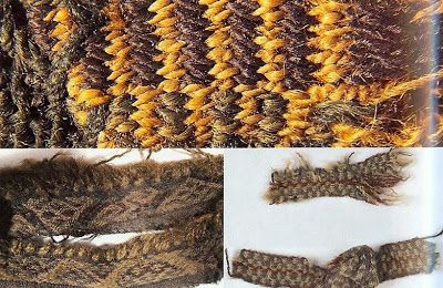 Hallstatt tablet weaving and tabby band.