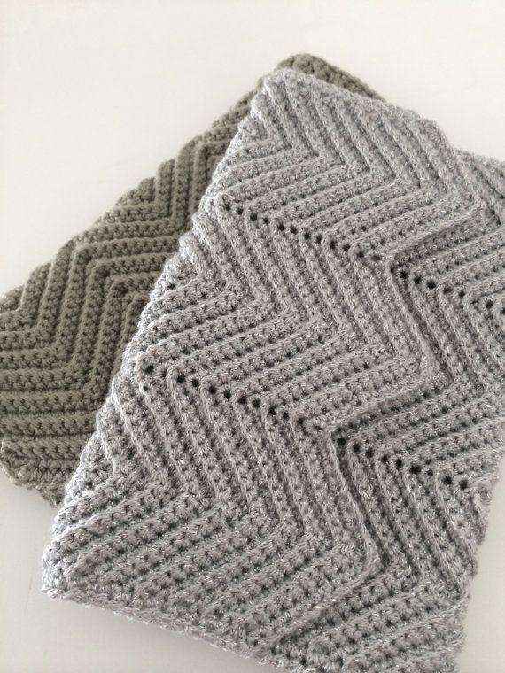 Crochet Clutch, Evening Purse, Ripple Pattern, Bridal ...