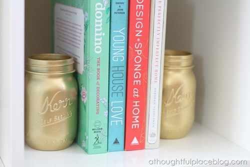 beat studio 2013 Painted gold mason jars  Fun stuff I want to try to make