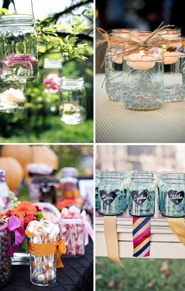 Love all these party uses for mason jars. Need to get some asap!
