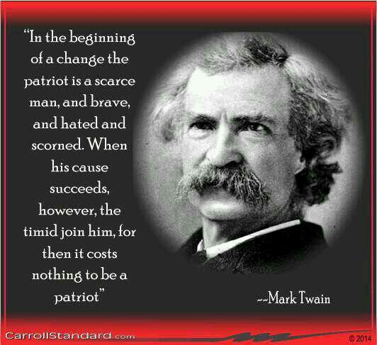 """mark twain essay on patriotism And twain's """"the war prayer"""" one can find contrasting examples to illustrate the multiple perspectives of patriotism to begin with, twain describes our."""