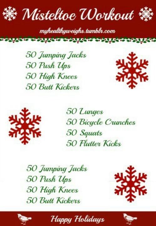 Christmas workout get fit move those buns pinterest