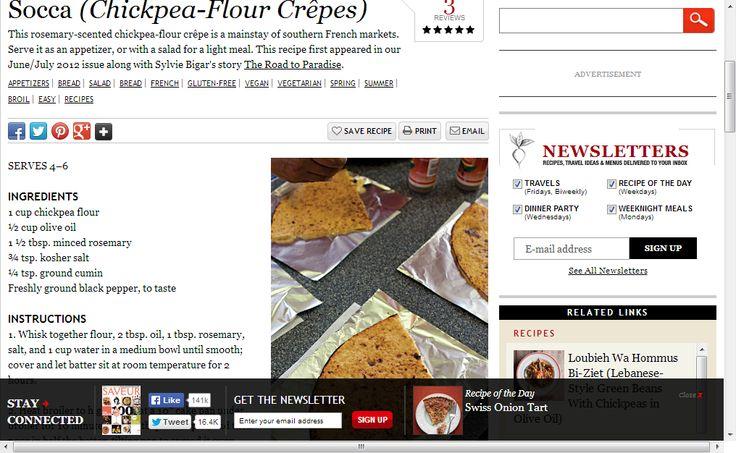 Socca (Chickpea-Flour Crêpes) | SAVEUR