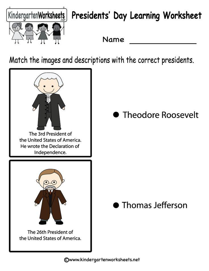 54 Free Download Presidents Day Math Worksheets For Kindergarten