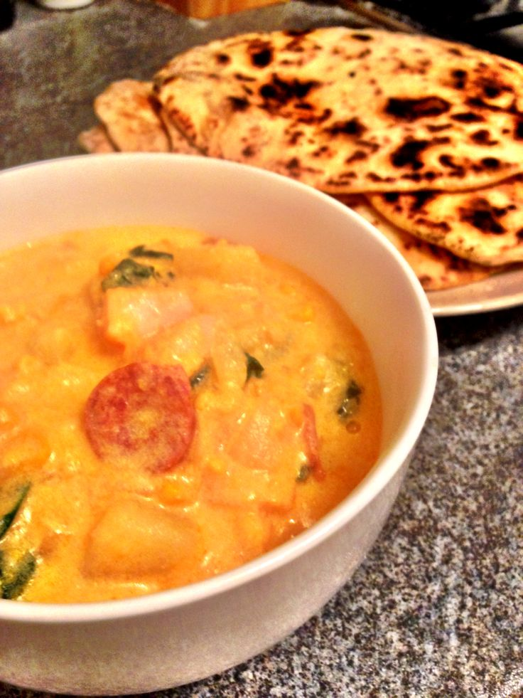 Smoked haddock chowder with homemade flatbreads http ...