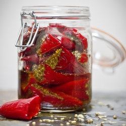 Indian Pickled Peppers | pickle | Pinterest