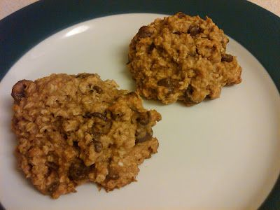 : Agave Oatmeal Chocolate Chip Cookies-not bad for a healthy cookie ...