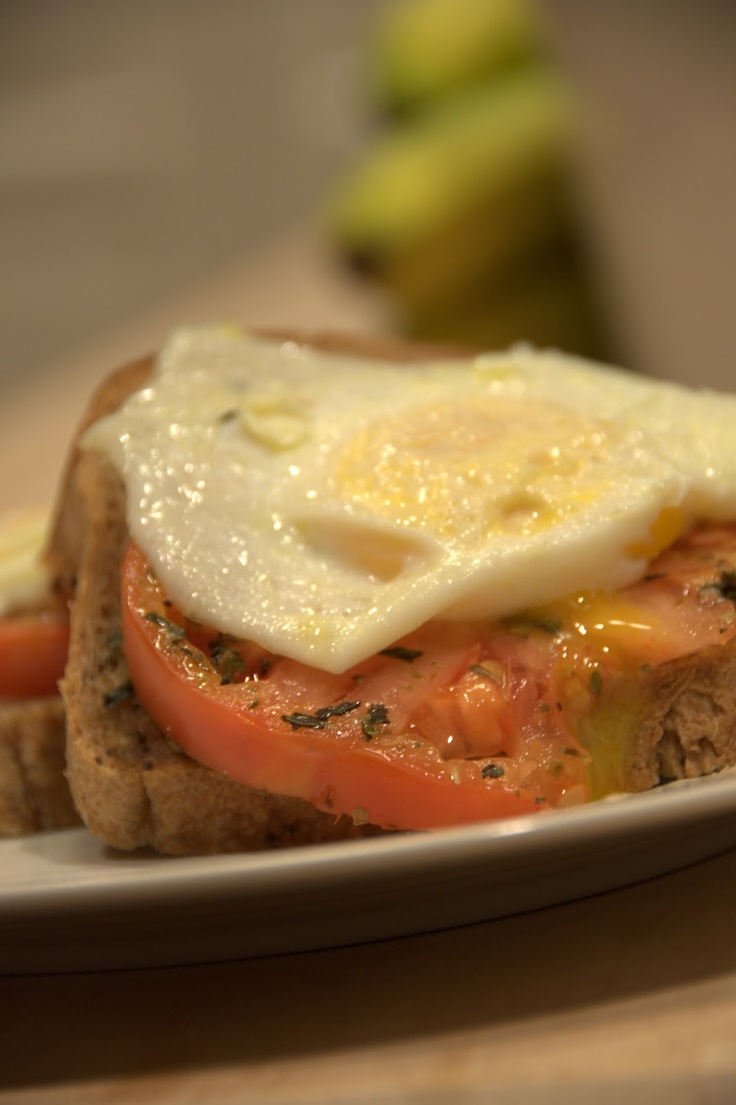 open face egg sandwich | Advocare | Pinterest