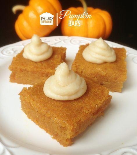 Paleo Pumpkin Bars. | COOKIE BARS | Pinterest