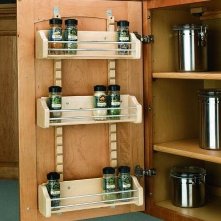 Spice Rack On Inside Of Cabinet Door Organization