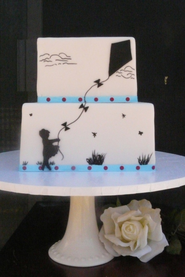 Fly a kite cake Up, Up and Away Pinterest