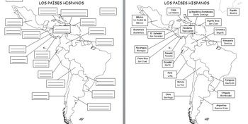 Spanish Speaking Countries And Capitals Map 71582 | LOADTVE