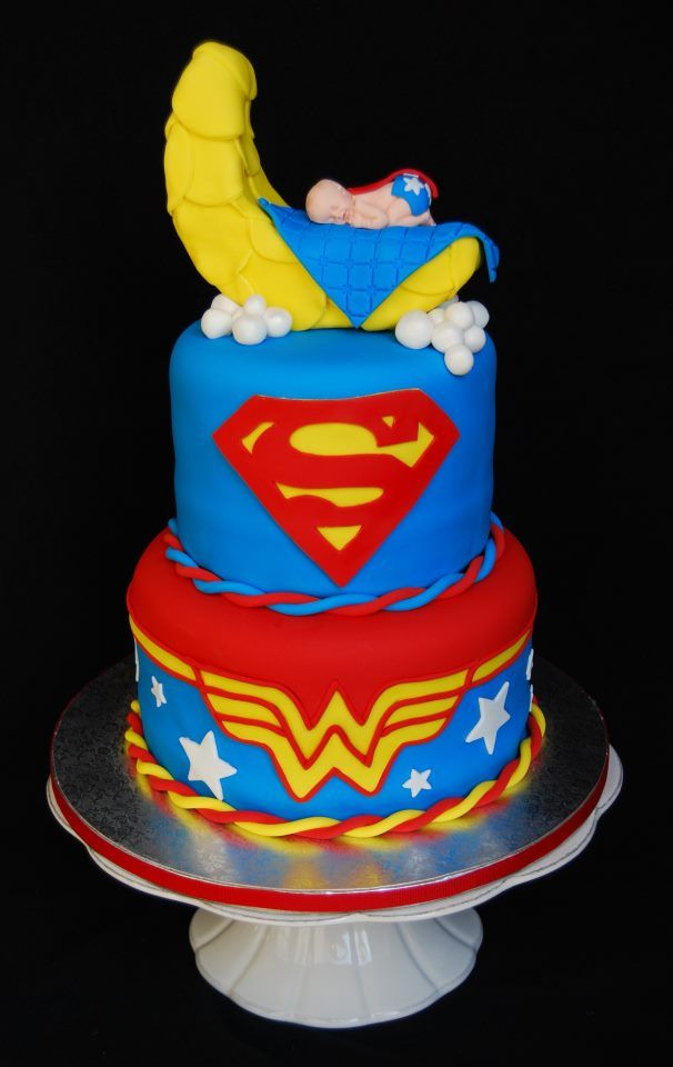 twins baby shower just needs a lil superman on top too baby shower