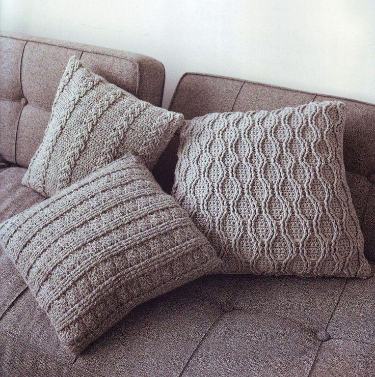 Узоры вязания подушек 12