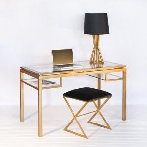 Brentwood Desk Available in Gold Leaf Silver Finishes $1,350.00