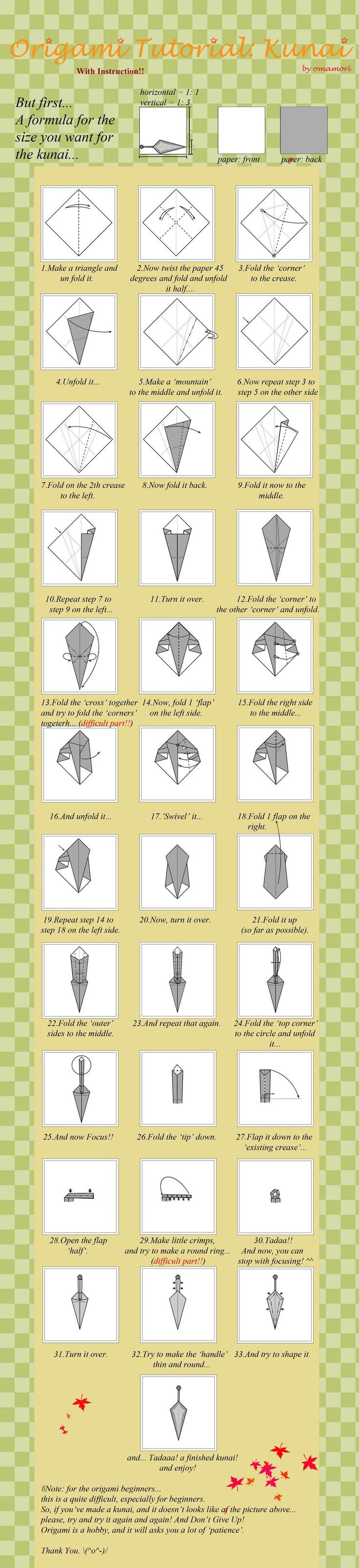 Как сделать кунай наруто из бумаги
